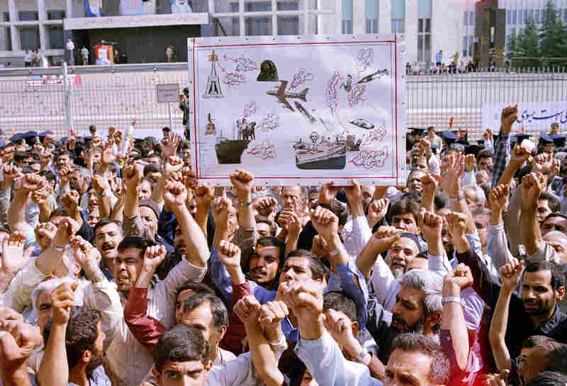 Thousands of Iranians participate in a mass funeral in Tehran for the people who died on Iran Air Flight 655. The plane was shot down by the USS Vincennes on July 3, 1988, and all 290 people on board were killed.