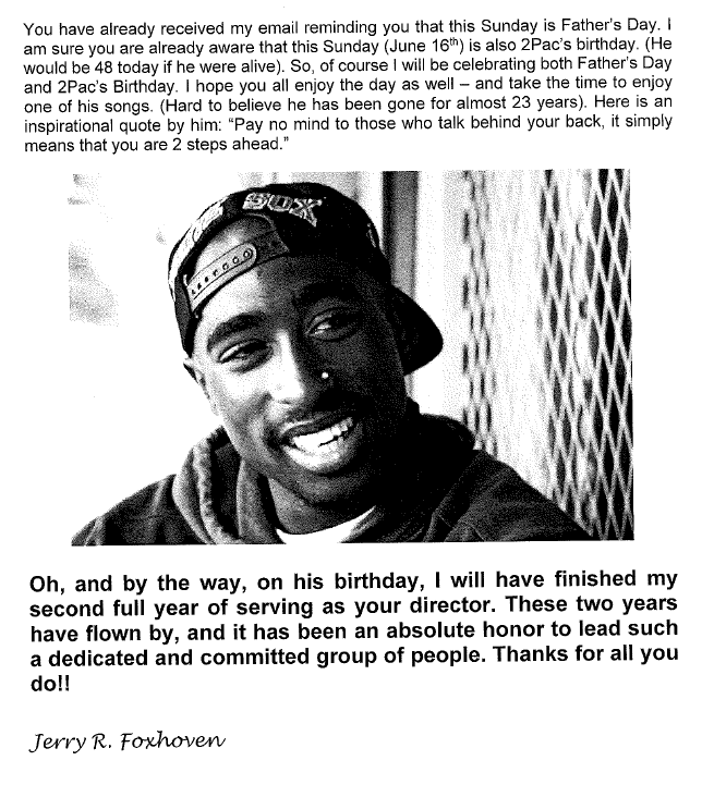 Astounding Fired Over Too Much Tupac A Rap Loving Bureaucrat From Iowa Says Funny Birthday Cards Online Alyptdamsfinfo