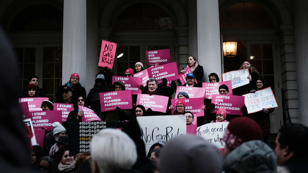 Supporters of Planned Parenthood demonstrated at New York
