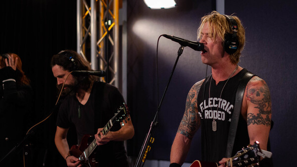 Duff McKagan inside the World Cafe Performance Studio