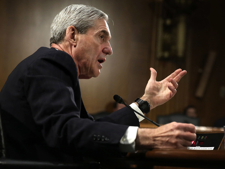 Then-FBI Director Robert Mueller testified during a Senate hearing in 2013. Lawmakers are studying old film to prepare for his hearings scheduled for next week. (Alex Wong/Getty Images)