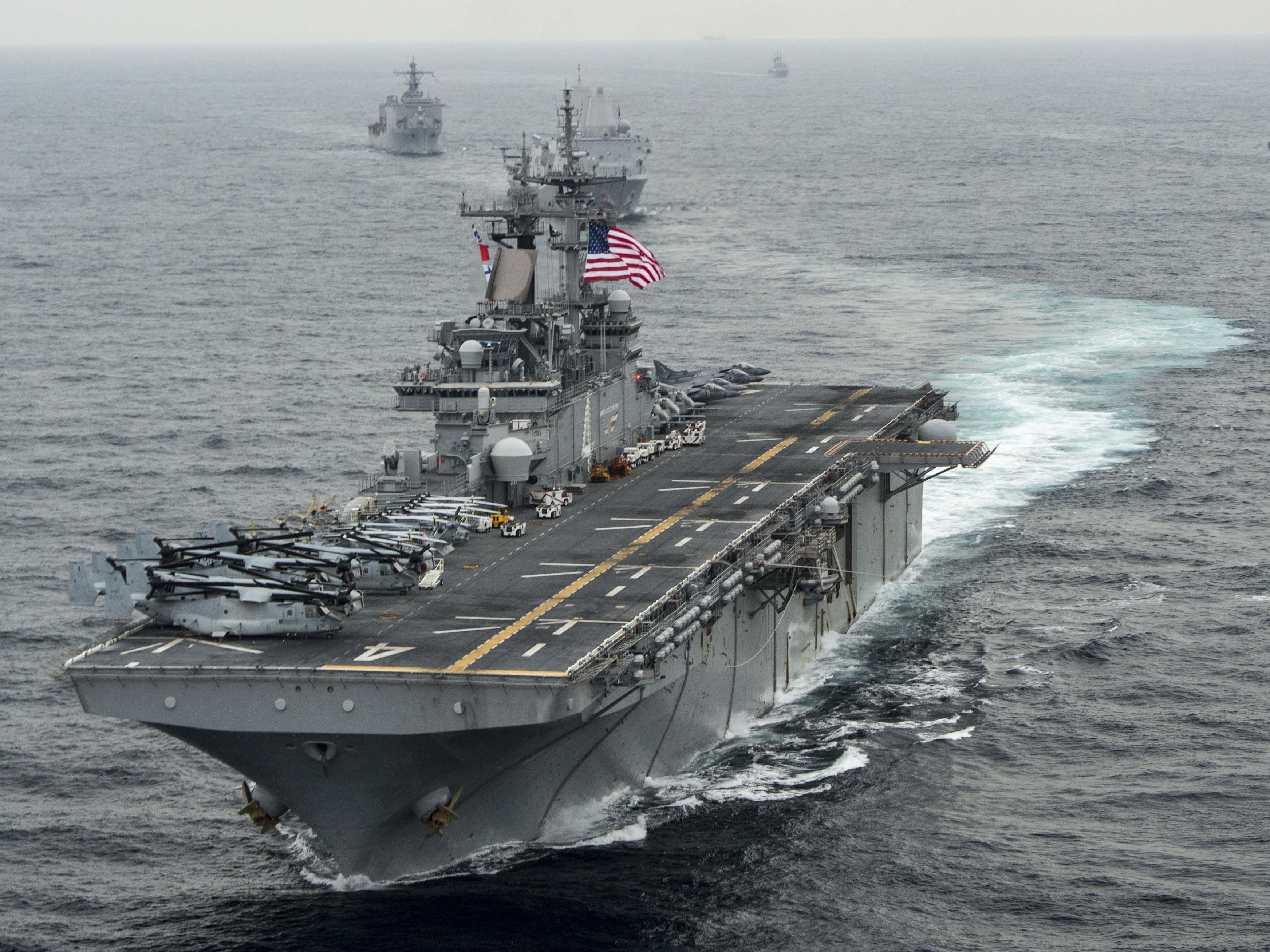 Trump says USA ship destroyed Iranian drone in Strait of Hormuz