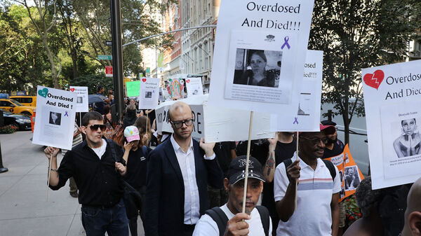 Nationally, drug overdose deaths reached record levels in 2017, when a group protested in New York City on Overdose Awareness Day on August 31. Deaths appear to have declined slightly in 2018, based on provisional numbers, but nearly 68,000 people still died.