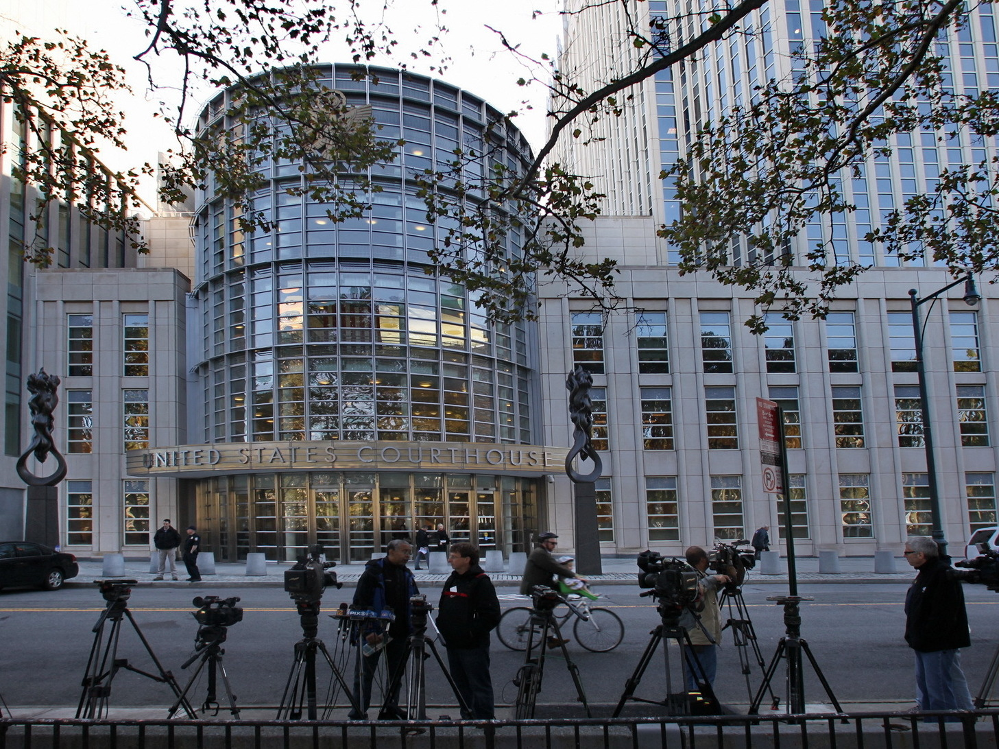 The United States Courthouse in Brooklyn, N.Y. An American terror suspect was scheduled to appear there after prosecutors charged him with being a sniper for the Islamic State.
