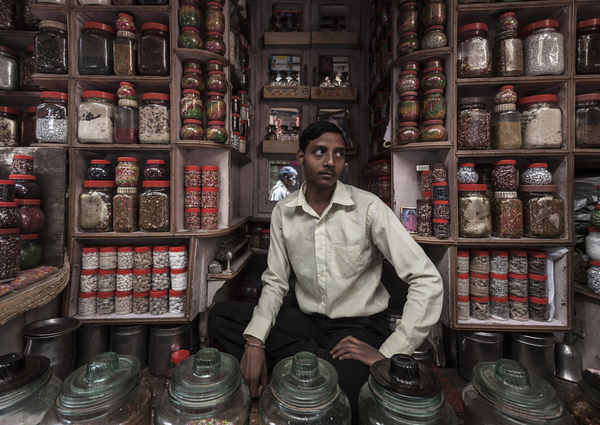 A sweet shop in Varanasi, India.