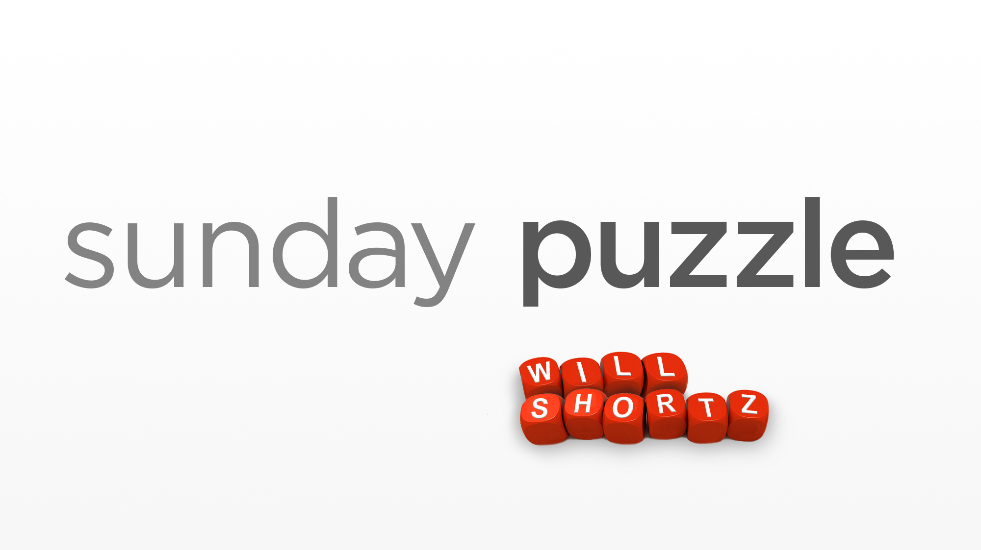 Sunday Puzzle: Rhyme Time
