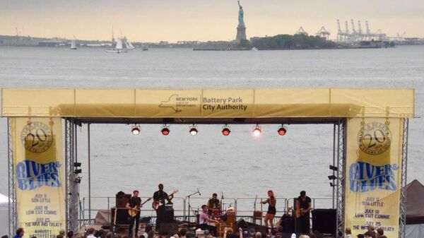 Bettye LaVette performs at Battery Park City RIver & Blues Festival.