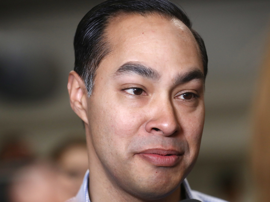 Democratic presidential candidate Julián Castro says his party can't ignore racist statements from President Trump, but needs to offer their own positive vision of a multicultural America to draw out a big coalition to vote in 2020. (Mario Tama/Getty Images)