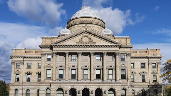 The courthouse in Luzerne County, Pa., where officials this month sent letters to parents who had unpaid cafeteria debt, threatening to take parents to Dependency Court if the obligations were not settled.