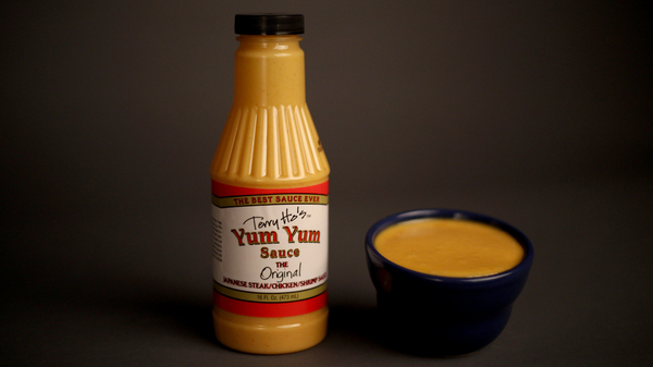 Japanese steakhouses often serve a creamy orange-pink sauce alongside a steaming meal. The popularity and intrigue around the sauce led one teppanyaki restaurant owner, Terry Ho, to start bottling it in bulk under the name Yum Yum Sauce.