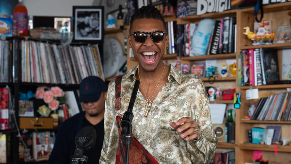 Masego plays a Tiny Desk Concert on Jan. 8, 2019 (Claire Harbage/NPR).