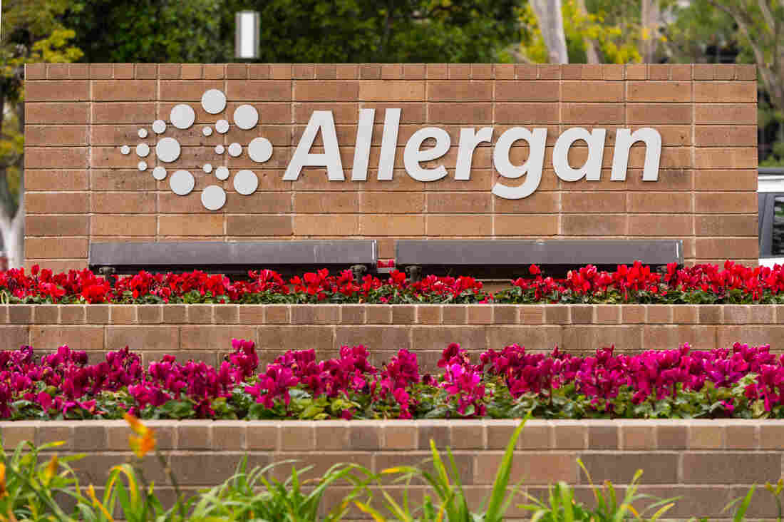 Allergan said Wednesday that it