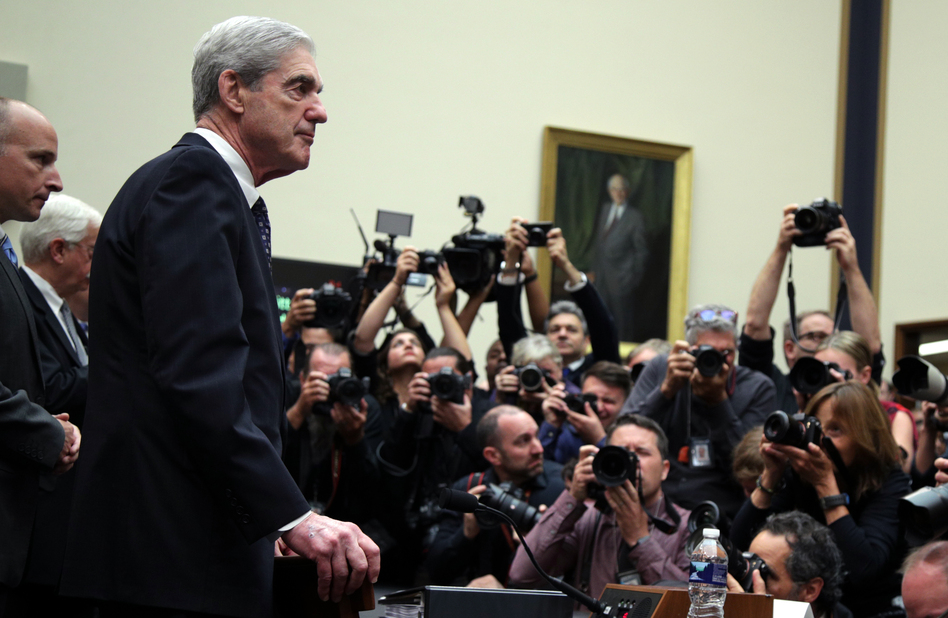 Former special counsel Robert Mueller arrives to testify to the House Judiciary Committee about his report on Russian interference in the 2016 presidential election on Wednesday. (Alex Wong/Getty Images)
