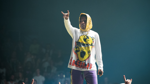 A$AP Rocky performs at Le Zenith on June 27, 2019 in Paris, France.