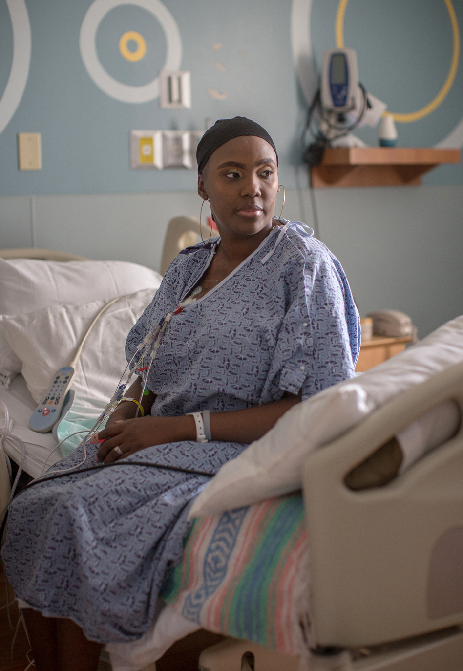 Gray was diagnosed with sickle cell disease when she was an infant. She was considering a bone marrow transplant when she heard about the CRISPR study and jumped at the chance to volunteer. (Meredith Rizzo/NPR)