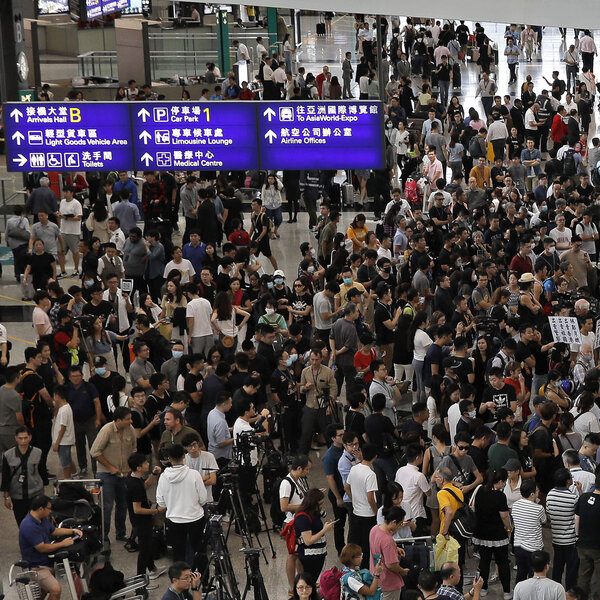 Hong Kong Protesters Occupy The City's Airport In 'Summer Of Discontent'