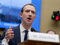 Facebook CEO Mark Zuckerberg testifies before the House Energy and Commerce Committee on April 11, 2018.