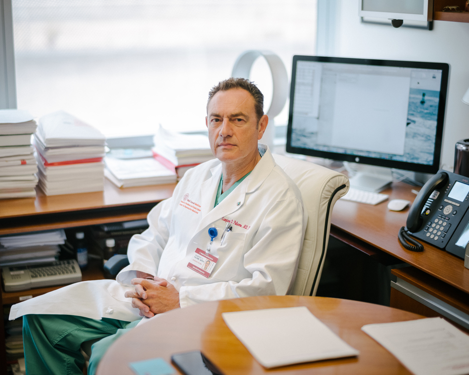 Gianpiero Palermo, a professor of embryology at Weill Cornell Medicine, runs the lab where scientists are trying to use CRISPR to edit genes in human sperm. (Elias Williams for NPR)