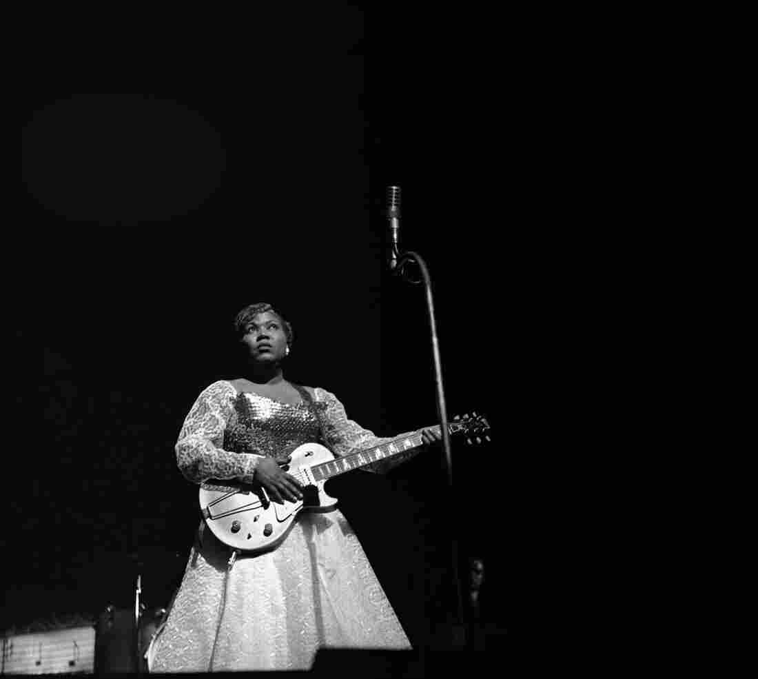 Sister Rosetta Tharpe on stage in 1959.