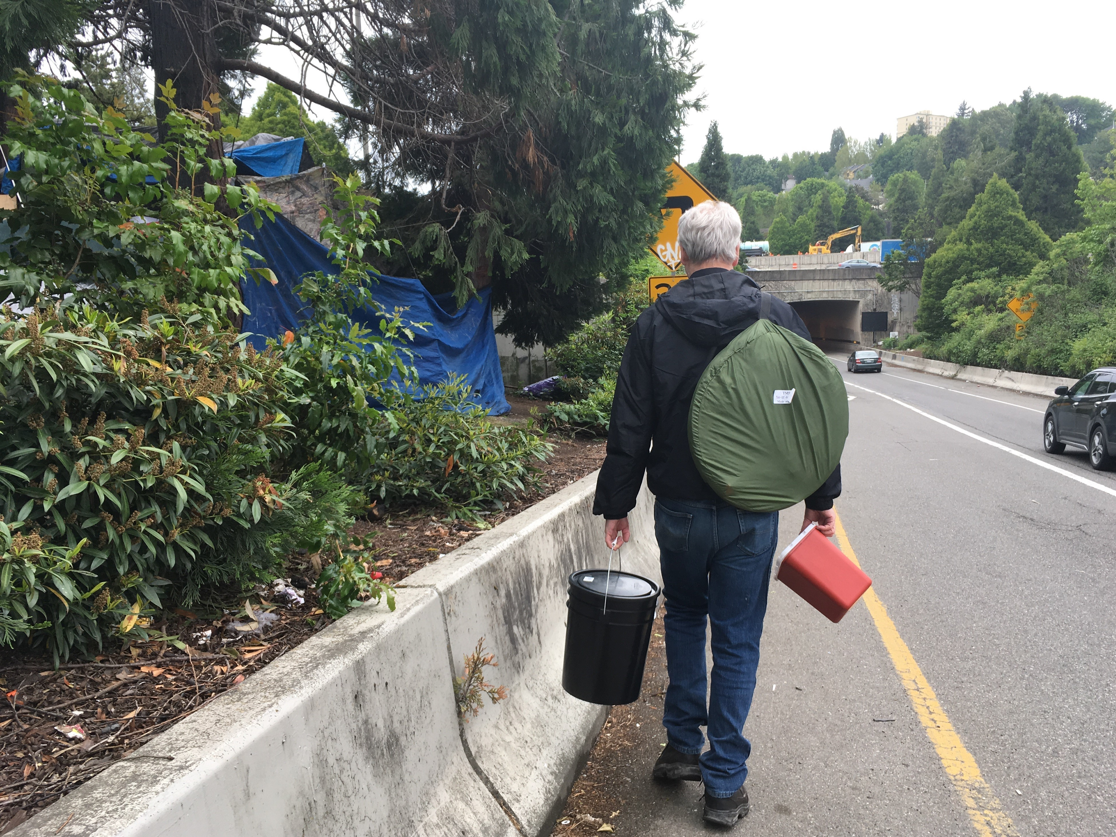 Seattle Man's Toilet Kit For The Homeless Brings Privacy, Opens Doors