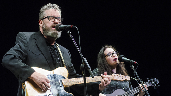 Brett and Rennie Sparks of The Handsome Family play at Mountain Stage.