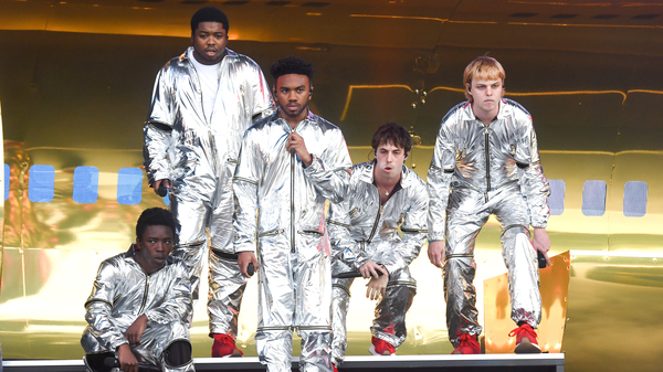 Call them a boy band: Kevin Abstract, Ameer Vann, Matt Champion, Merlyn Wood, Joba and Dom McLennon of Brockhampton, performing at Governors Ball on May 31, 2019 in New York.