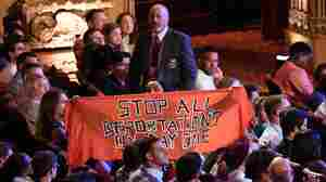 Protests On Immigration, Policing Disrupt 2nd Night Of Democratic Debate