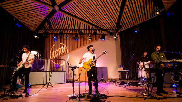 Local Natives performs live in KCRW studios.