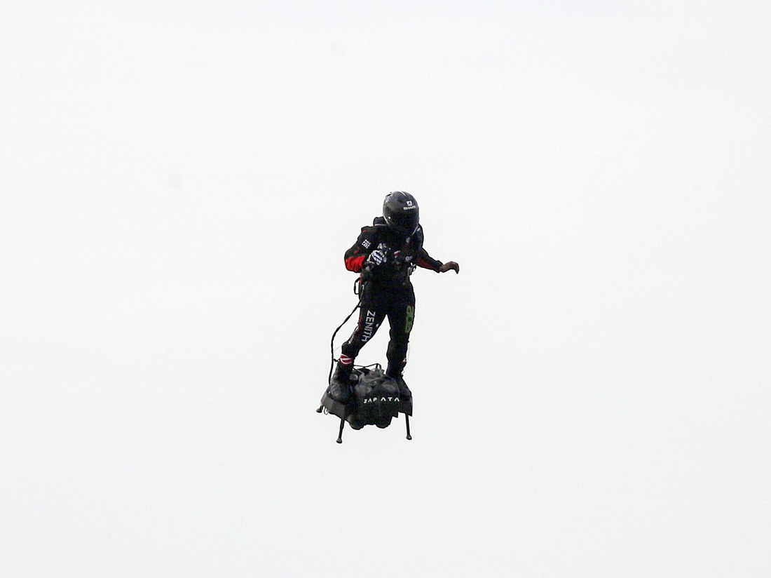 Franky Zapata Crosses English Channel On Hoverboard : NPR
