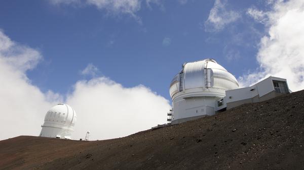 The Gemini Telescope (right) and Canada-France-Hawaii Telescope on Hawaii
