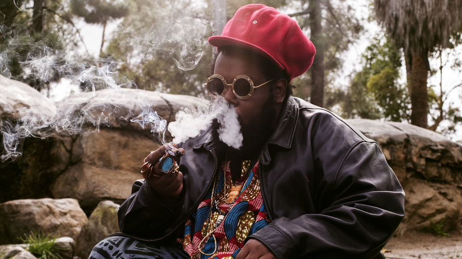 Ras G, photographed on Jan. 10, 2017 in Los Angeles. The respected musician died at home there on July 29, at the age of 40. (Robb Klassen)