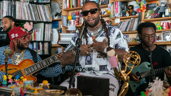 Ty Dolla $ign pays tribute to Mac Miller at the Tiny Desk (Bob Boilen/NPR).