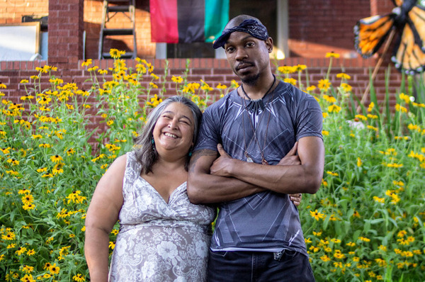 Elizabeth Vega, left, and Jamell Spann became friends after Vega comforted an emotional Spann while they were protesting in Ferguson, Mo., as strangers in 2014.