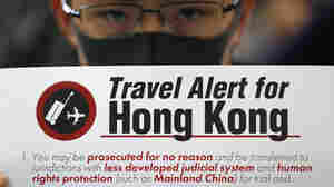 Arrivals At Hong Kong's Airport Get 'Travel Warning' From Protesters