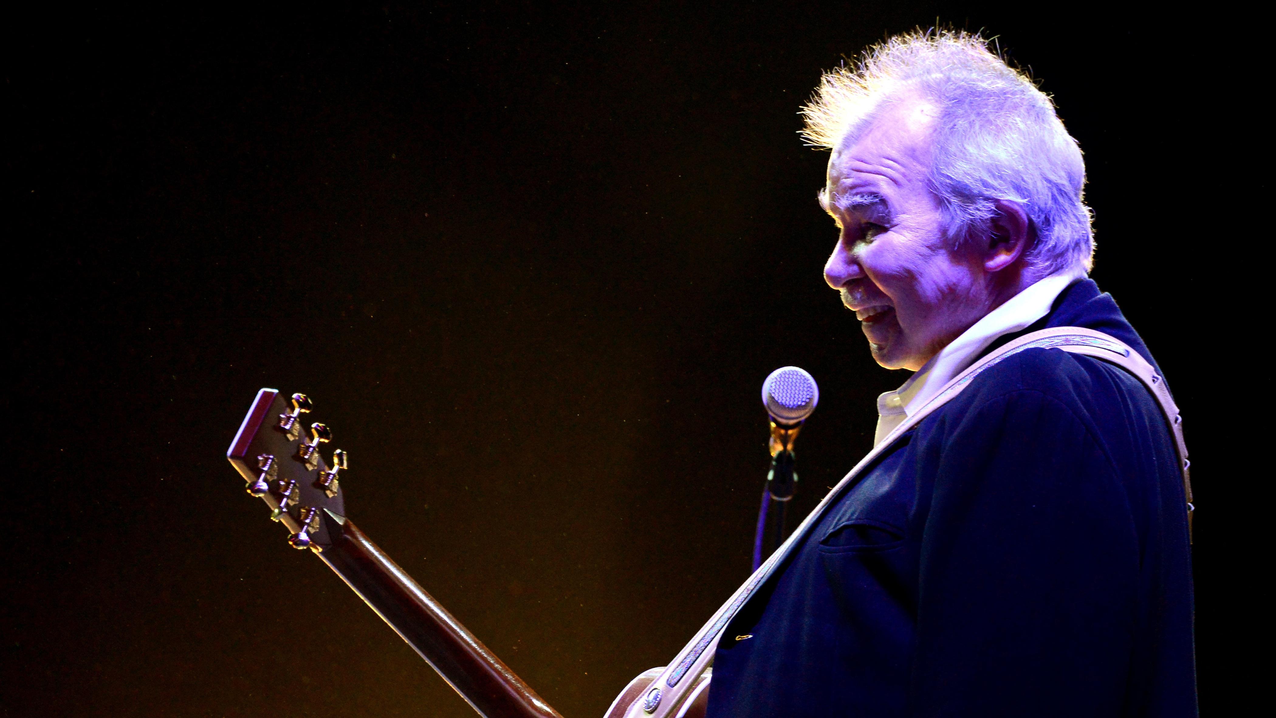 John Prine, performing during Coachella on April 27, 2014.
