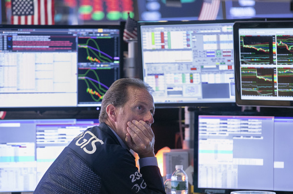 Stocks fell sharply on Wednesday amid troubling economic data that could signal a global recession.