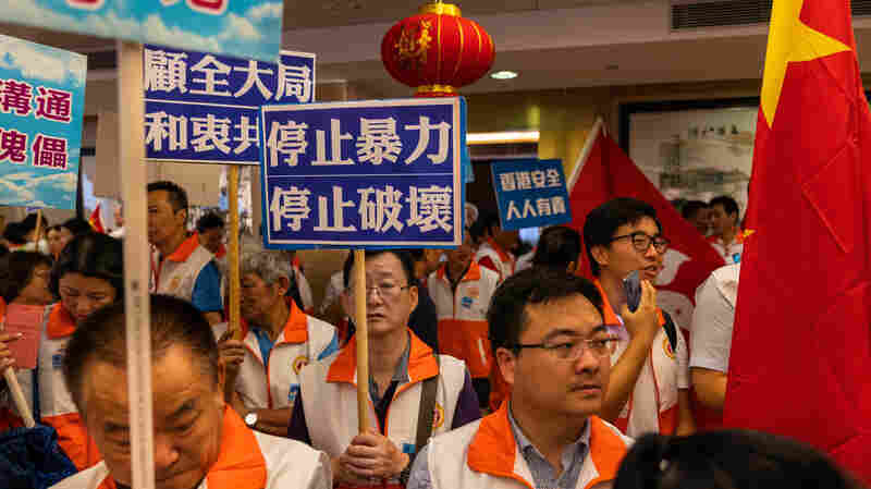 In A Pro-Beijing Neighborhood Of Hong Kong, Protesters Are Unwelcome