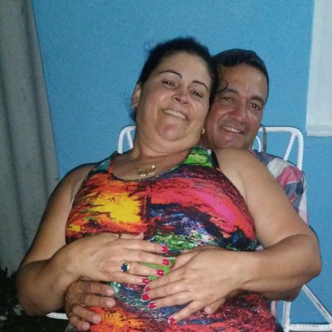 Yoel Alonzo with his wife, Midalis Rodriguez, who is a permanent U.S. resident.