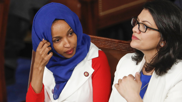 Rep. Ilhan Omar, D-Minn. (left), and Rep. Rashida Tlaib, D-Mich., have been barred from visiting Israel and Palestinian territories by government officials.