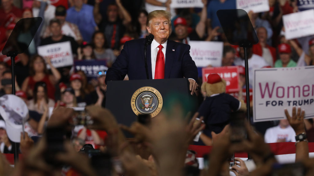 Trump Shifts From Background Checks To Mental Illness Reform At N.H. Rally