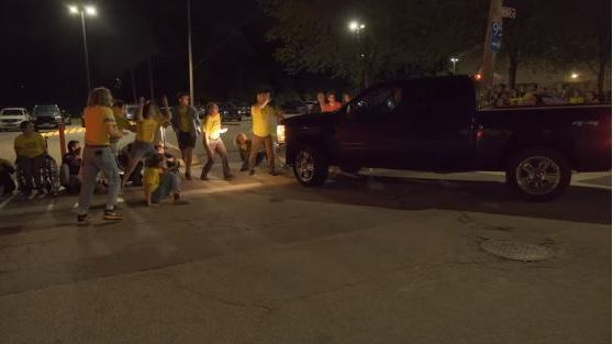 VIDEO: Vehicle Drives Into Crowd Of ICE Protesters Outside Detention Facility