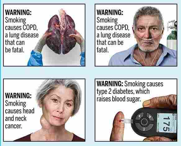 New graphic health warnings proposed for cigarette packages
