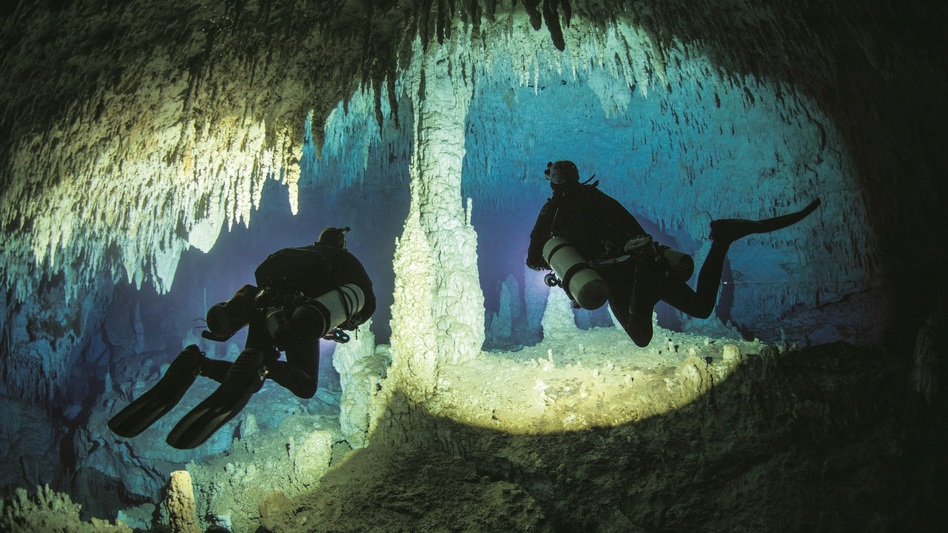 "Jill Heinerth says Dan's Cave on Abaco Island, Bahamas, is her ""favorite cave on Earth."" (Jill Heinerth/Ecco)"