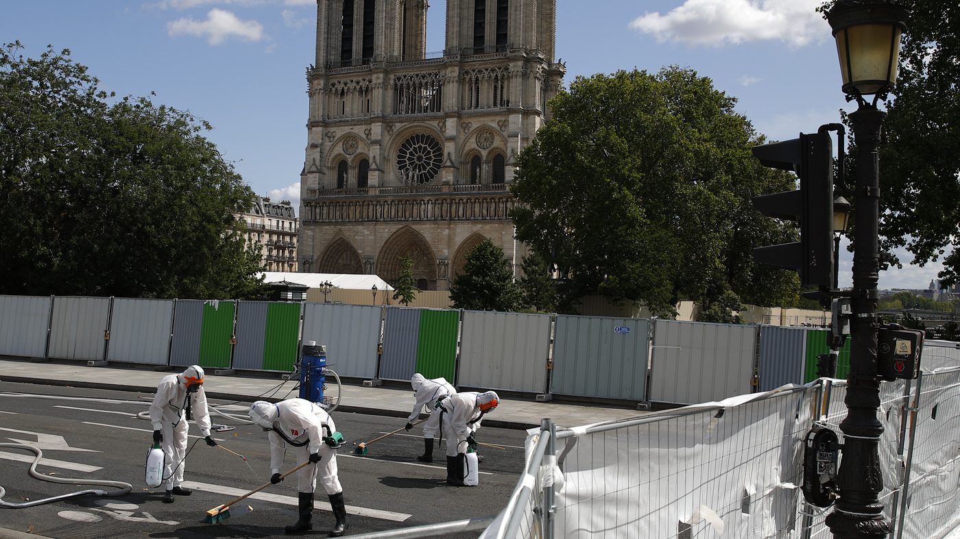 Notre Dame Repair Crews Are Back To Work, But Paris' Lead Concerns Remain