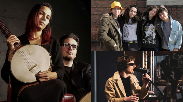 Rhiannon Giddens and Francesco Turrisi (left, credit: Karen Cox), King Princess (top right, credit: Gabriela Barbieri), Cage The Elephant (bottom right, credit: Gabriela Barbieri )