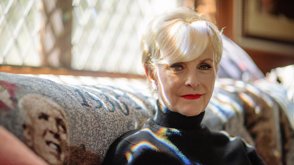"""Cindy McCain, widow of late Sen. John McCain, at home in Phoenix. She says she thinks Republicans and Democrats can get back to being more civil. """"I think it"""