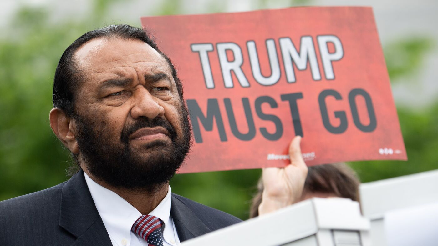 Buoyed By Fresh Support, Rep. Al Green Plans New Call To Impeach Trump