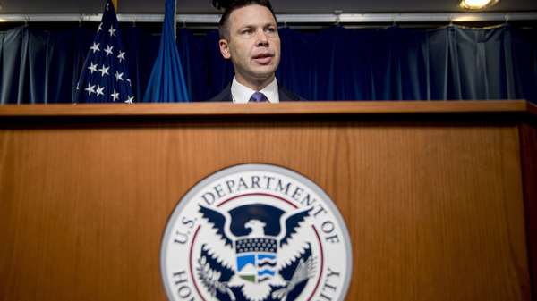 "Acting Homeland Security Secretary Kevin McAleenan says a new rule allowing indefinite detention of migrant families with children will ""improve the integrity of the immigration system."""