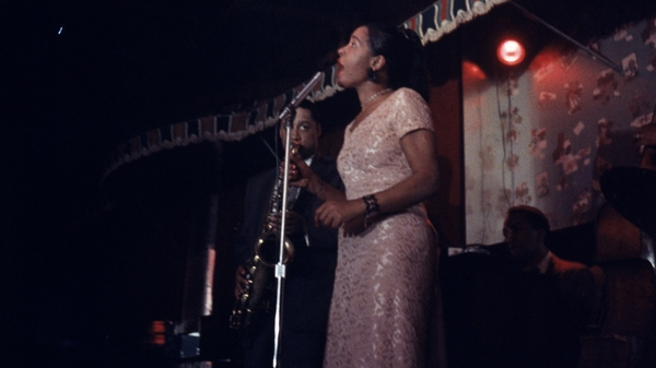 Billie Holiday performs on stage at the Sugar Hill nightclub in Newark, N.J. Farah Jasmine Griffin