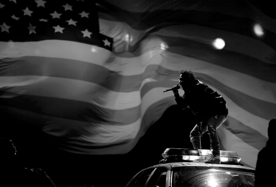 Kendrick Lamar performs at the 2015 BET Awards in Los Angeles. (Christopher Polk/Getty Images for BET)